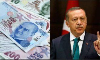 Υποχωρεί η τουρκική λίρα εξαιτίας της εισβολής στο συριακό Κουρδιστάν