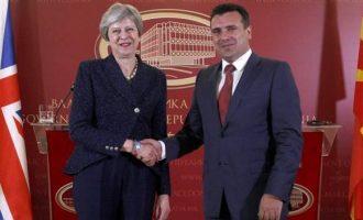 Στα Σκόπια η Μέι: Τι είπε για το ονοματολογικό μετά τη συνάντηση με Ζάεφ