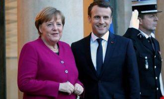 Μακρόν σε Μέρκελ: Προτεραιότητα τα συμφέροντα Ελλάδας-Κύπρου στην Αν. Μεσόγειο