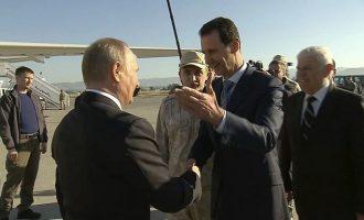 Στη Ρωσία ο Άσαντ για συνομιλίες με τον Πούτιν