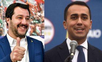Συμφώνησαν Πέντε Αστέρια και Ακροδεξιά για κυβέρνηση στην Ιταλία