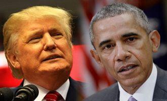 Τραμπ: Ομπάμα και FBI είχαν κατάσκοπο στην προεκλογική μου εκστρατεία