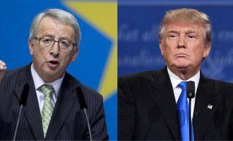 Ο Τραμπ έστειλε αδιάβαστο τον Γιούνκερ – «Είσαι ένας στυγνός δολοφόνος» του είπε