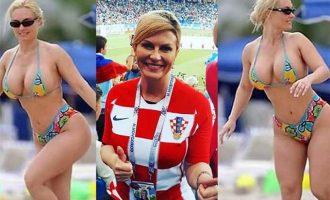 Είναι fake οι φωτο της πληθωρικής Προέδρου της Κροατίας Κολίντα Γκράμπαρ; (φωτο+βίντεο)