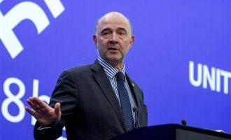 Σινιάλο Μοσκοβισί για συντάξεις: Πλέον η Ελλάδα καθορίζει μόνη της την πολιτική της