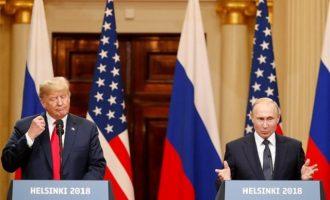 Τραμπ: Καλή τώρα η σχέση μας με τη Ρωσία – Πούτιν: Ήθελα να κερδίσει ο Τράμπ στις εκλογές