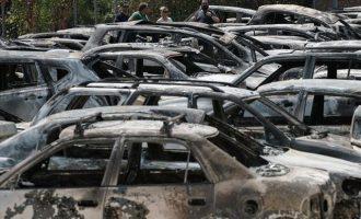 Ξεκίνησε η καταγραφή των καμένων αυτοκινήτων στις πυρόπληκτες περιοχές