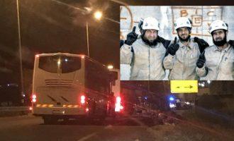 Οι τζιχαντιστές διασώστες «Λευκά Κράνη» διέφυγαν από τη νοτιοδυτική Συρία και θα μεταφερθούν στην Ευρώπη