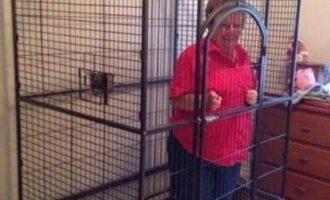 Απίστευτο: Διαβάστε γιατί ένας νεαρός οπαδός έβαλε τη γιαγιά του σε κλουβί!
