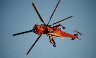 Φωτιά στον Σχοινιά – Επιχειρεί ελικόπτερο