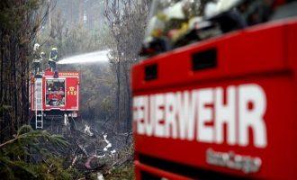 Μεγάλη πυρκαγιά στη Γερμανία έξω από το Βερολίνο – Εκκενώθηκαν χωριά
