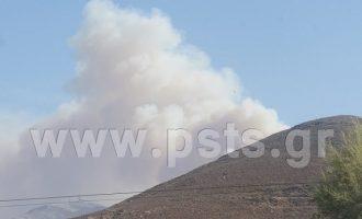 Αναζωπυρώθηκε η φωτιά στην Πάρο