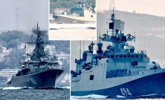 Η Ρωσία επιβεβαίωσε ότι έχει αναπτύξει δέκα πολεμικά πλοία στην Ανατολική Μεσόγειο