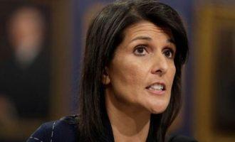 Η Αμερικανίδα πρέσβης στον ΟΗΕ Νίκι Χάλεϊ πήρε μέρος σε διαδήλωση κατά του Μαδούρο
