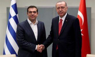 Τσίπρας σε Ερντογάν: Να σεβαστείς το διεθνές δίκαιο- Μείωσε την ένταση στο Αιγαίο