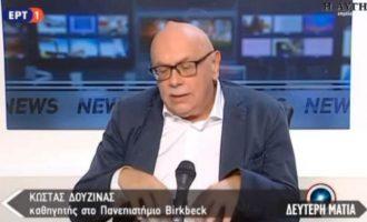 Κώστας Δουζίνας: «Μηδέν» πήρε η Νέα Δημοκρατία στα θέματα εξωτερικής πολιτικής (βίντεο)