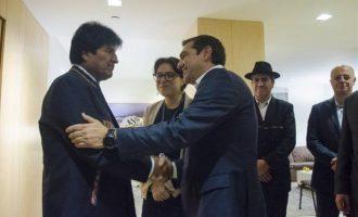 Τι συμφώνησαν ο Τσίπρας και ο πρόεδρος της Βολιβίας Έβο Μοράλες
