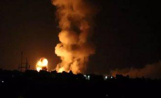 Με 100 πλήγματα σε στόχους της Χαμάς «απάντησε» το Ισραήλ