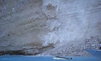 Τι έδειξαν οι έρευνες στην παραλία «Ναυάγιο» στη Ζάκυνθο μετά την κατολίσθηση