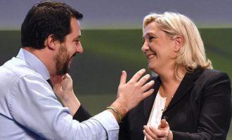 Ακροδεξιά συμμαχία για τις Ευρωεκλογές – Έδωσαν τα χέρια Σαλβίνι – Λεπέν
