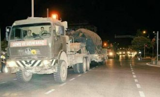 Ακόμα μια μεγάλη τουρκική στρατιωτική φάλαγγα με τανκς και τεθωρακισμένα εισήλθε στην Ιντλίμπ το βράδυ