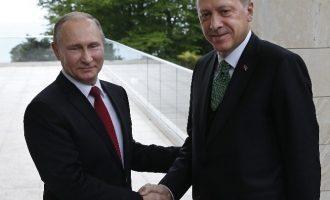 Συνάντηση Πούτιν-Ερντογάν στο Σότσι τη Δευτέρα – Τι θα συζητήσουν