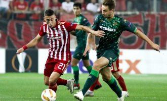 Europa League: Ολυμπιακός-Μπέτις 0-0