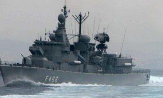 Η φρεγάτα «Νικηφόρος Φωκάς» στα 3-4 ναυτικά μίλια από το τουρκικό «Barbaros»
