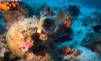 Ανακάλυψαν 58 αρχαία ναυάγια στον βυθό των Φούρνων – Άναυδοι οι αρχαιολόγοι (βίντεο)