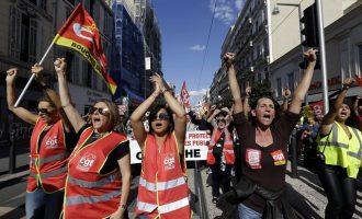 Στους δρόμους οι Γάλλοι εργαζόμενοι κατά της πολιτικής Μακρόν