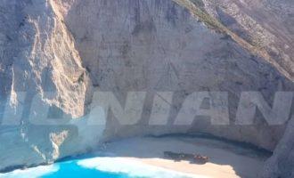Πώς άλλαξε η θάλασσα στο «Ναυάγιο» της Ζακύνθου από τις κατολισθήσεις (βίντεο)