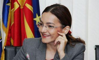 Σε έξι χρόνια φυλάκιση καταδικάστηκε η πρώην υπουργός Εσωτερικών της ΠΓΔΜ