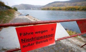 Στεγνώνει ο ποταμός Ρήνος-  Η στάθμη στο χαμηλότερο σημείο της στην ιστορία