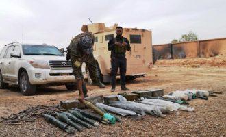 Ένα ολόκληρο οπλοστάσιο της οργάνωσης Ισλαμικό Κράτος πήραν λάφυρα οι Κούρδοι (βίντεο)