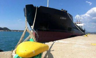Αλβανικό πλοίο προσάραξε σε βραχώδη περιοχή της Λευκάδας και έβαλε νερά