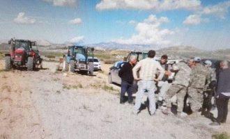 Ο τουρκικός στρατός προσπαθεί να καταπατήσει χωράφια στη νεκρή ζώνη της Κύπρου