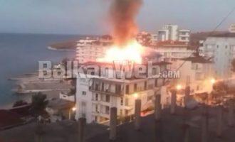Πυρκαγιά ξέσπασε στο ελληνικής ιδιοκτησίας ξενοδοχείο «Ήπειρος» στους Άγιους Σαράντα της Βόρειας Ηπείρου