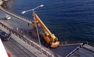 Κατέρρευσε γέφυρα στην Καβάλα – Από θαύμα δεν υπήρξαν νεκροί (βίντεο)