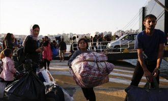 349 πρόσφυγες από τα νησιά έφτασαν στον Πειραιά