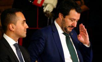 Ο Σαλβίνι δεν αποκλείει πρόωρες εκλογές στην Ιταλία – Ο Ντε Μάιο λέει «όχι»