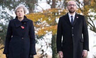 Βρυξέλλες: Όχημα έπεσε στην αυτοκινητοπομπή με τους πρωθυπουργούς Βρετανίας και Βελγίου