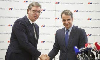 Τι είπε ο Κυριάκος Μητσοτάκης με τον πρόεδρο της Σερβίας