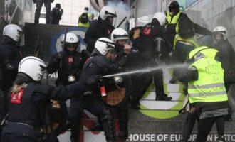 70 προληπτικές συλλήψεις στις Βρυξέλλες πριν διαδηλώσουν τα Κίτρινα Γιλέκα