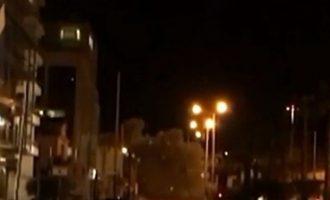 Δείτε τη στιγμή της εκκωφαντικής έκρηξης στον ΣΚΑΪ (βίντεο)