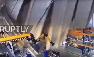 Τρεις νεκροί από κατάρρευση οροφής εργοστασίου στη Μόσχα (βίντεο)