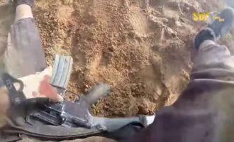 Τζιχαντιστής οπλαρχηγός τραυματίζεται, τον εγκαταλείπουν οι άνδρες του και γράφει σε βίντεο τις τελευταίες του στιγμές (βίντεο)