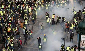 Σκληραίνει ο Μακρόν: Αυστηρές κυρώσεις για τους διαδηλωτές των «Κίτρινων Γιλέκων»
