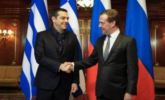 Σε εξέλιξη η συνάντηση Τσίπρα-Μεντβέντεφ στη Μόσχα