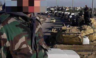Ισχυρές δυνάμεις του συριακού στρατού αναπτύχθηκαν δυτικά της Μανμπίτζ