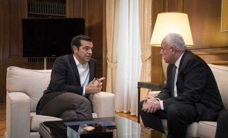 Ο Τσίπρας συναντήθηκε με τον Παλαιστίνιο ΥΠΕΞ Ριάντ Μαλκί